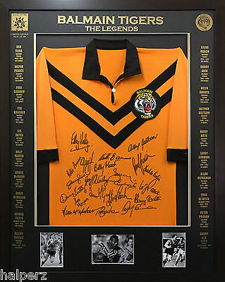 Blazed In Glory - Balmain Tigers Legends - NRL Signed & Framed Jersey