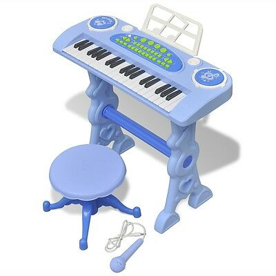 Kids Children Toy Keyboard Piano Instrument with Stool/Microphone Musical Record