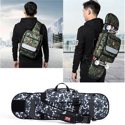 "35""*8"" Folding Skateboard Longboard Carry Bag Skates Sports Shoulder Bag Daypack"