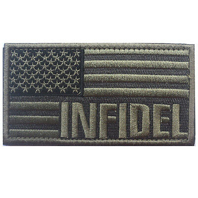 Usa Flag Usa Infidel Flag U.s. Army 3D Morale Tactical Hook Loop Patch #4