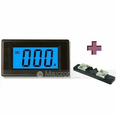 3 1/2 LCD Blue Digital Current Panel Meter - DC 100A AMP  with 100/5A 75mv Shunt