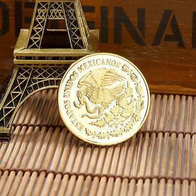 1xMexico Flying Goddess Eagle Commemorative Coin Physical Gold Colour Craft Gift