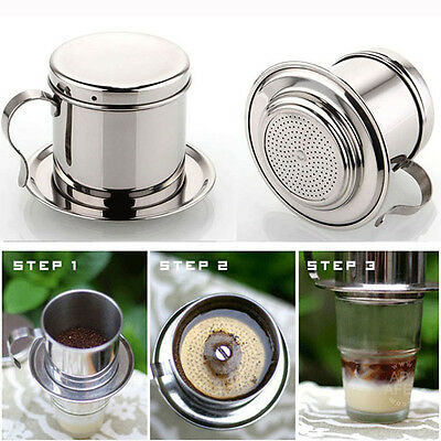 Set Of 2 Vietnamese Coffee Drip Filter Infuser Maker - Stainless Steel