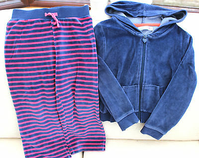 blue top with zip 4-5years, stripy trousers 3-4years track suit girl