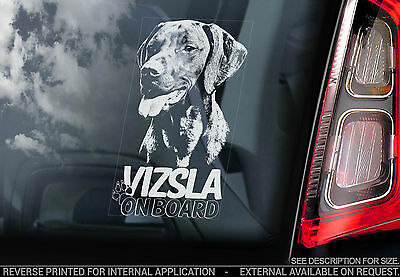Vizsla - Car Window Sticker - Hungarian Vizsla Magyar Dog on Board Sign - TYP2