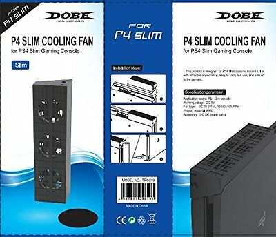 DOBE Cooling Fan Stand for PS4 S Playstation 4 Slim Console (TP4-819)