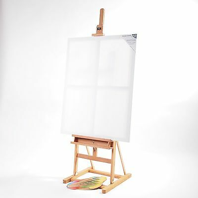 MASSIVE ARTIST EASEL | waxed wood for stretched canvases up to 125cm height