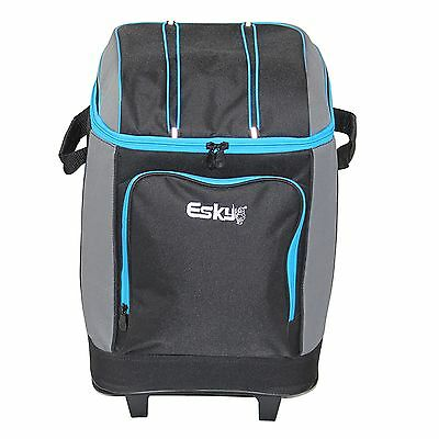 Esky WHEELED SOFT COOLER 42 Can, Zip Top & Front Storage Pocket*Australian Brand