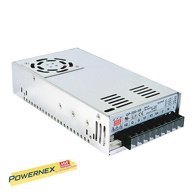 MEAN WELL [PowerNex] NEW QP-200-3B 200W Quad Output PFC Function Power Supply