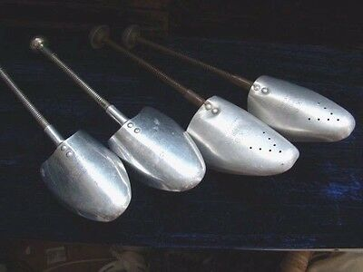 4 Vintage Metal Shoe Stays Trees Stretchers - Great Display or Use 6-9 size