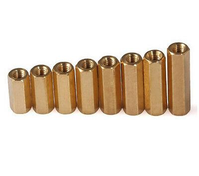 Solid Brass M3*4-M3*60 Female Threaded Hex Standoff PCB Pillar Spacer