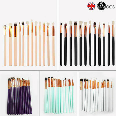 12PCS Foundation Eyeshadow Eyeliner Powder Make up Brushes Set Kabuki Tool