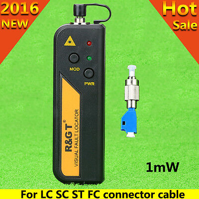 Mini 1mW Visual Fault Locator Fiber Cable Tester FC-LC Connector For LC/FC/SC/ST