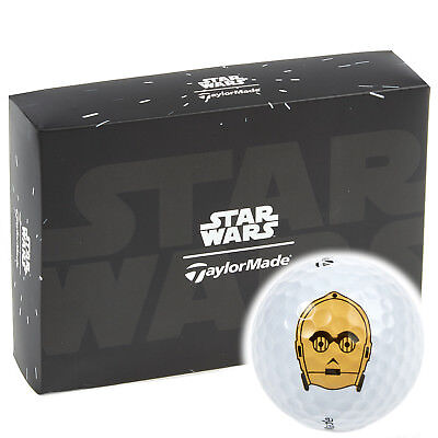 """50% Off"" Taylormade Ltd Edition Star Wars C3Po Golf Balls / 3 Ball Pack !!!!!!!"