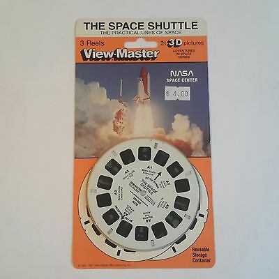 Viewmaster three reel carded set 3d Nasa Space Centre Sealed