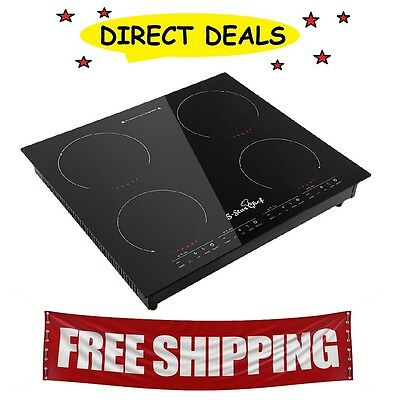5 Star Chef Electric Induction Cooktop Ceramic 4 Burner