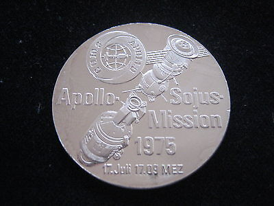 """Mds Feinsilbermedaille """"apollo - Sojus - Mission 1975""""   #7"""