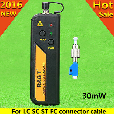 Mini 30mW Visual Fault Locator Fiber Tester FC-LC Connector For LC/FC/SC/ST