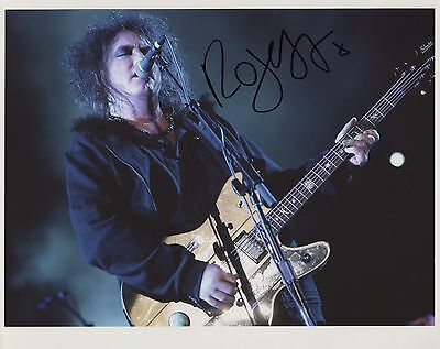 Robert Smith (The Cure Singer) Signed  8 x 10 Photo Genuine In Person