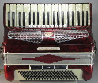 Excelsior  Piano Accordion 120 Bass - 4 Voice Musette