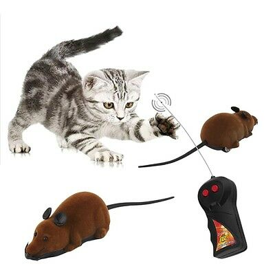 Brand NewScary Remote Control Simulation Plush Mouse Toy cat juguete gatos raton