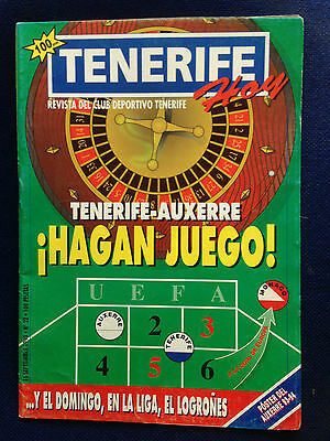 Programme Official Tenerife Spain Auxerre France Uefa Cup 1993 1994