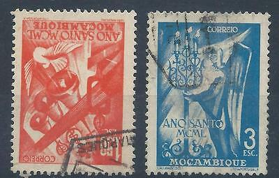 MOZAMBIQUE 1950 SG438-439 Holy Year set USED A#009