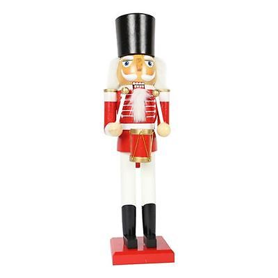 20cm Wooden Standing Nutcracker (Red Drummer) Traditional Christmas Decoration