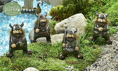Viking Village  design Figurines, 4/Asst. Vikings  Resin New 3.4 in.H x 2.8 in.