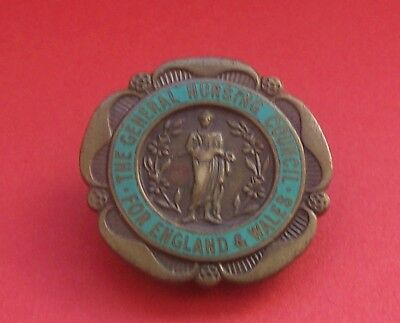 General Nursing Council For England & Wales Badge S. Abram