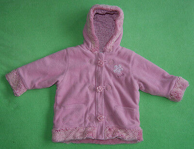 Next pink hooded jacket coat for girl age 2 years 92cm