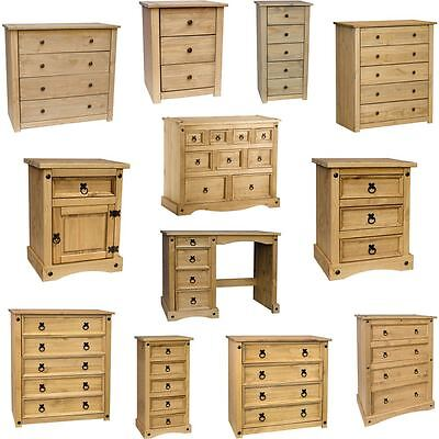 Corona & Panama Chest Of Drawers Mexican Solid Waxed Pine Bedroom Furniture