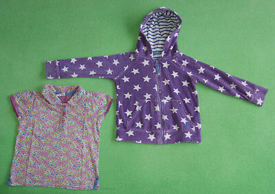 Mini Boden purple hoodie and t-shirt for girl age 3-4 years