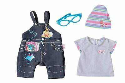 New Zapf Creation Baby Born Deluxe Dungarees & Accessories Dress Up Set