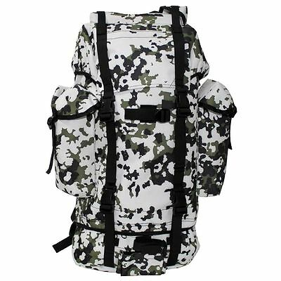 Military Combat Patrol Backpack Large 65L Snow Winter Camo - Army Pack - New