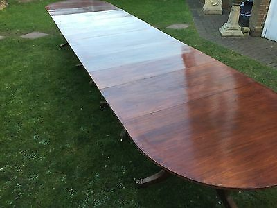 14.8ft GRAND REGENCY STYLE BRAZILIAN MAHOGANY TABLE, PRO FRENCH POLISHED