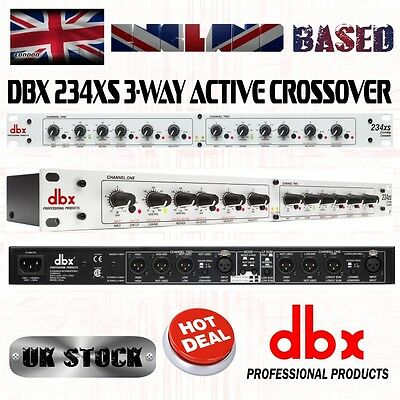 dbx 234XS Stereo 3 Way, Mono 4-Way Crossover with XLR Connectors