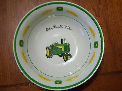 John Deere, Amber Fields pattern, soup/cereal bowl, made by Gibson China