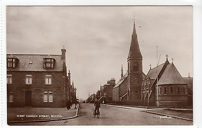WEST CHURCH STREET, BUCKIE: Banffshire postcard (C11126)
