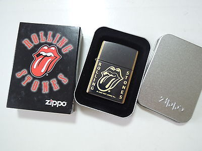 Authentic Zippo Lighter -Rolling Stones 20889 - No Inside Guts Insert