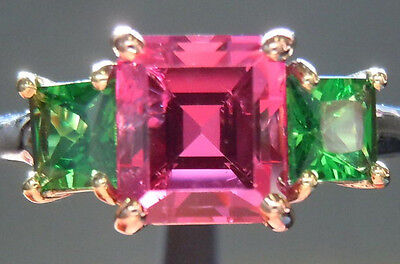 Precision Cut 1.77ct Pink Spinel Three Stone Ring R4193 Diamonds by Lauren