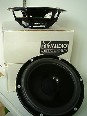Pair of vintage Dynaudio 30W54 legendary woofers, restored and boxed, rare