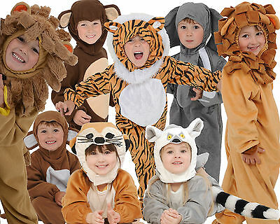 High Quality World Book Day Boys Girls Toddler Kids Animal Fancy Dress Costumes