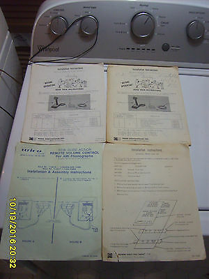 Lot of Old Vintage Rowe AMI Jukebox PA System Operating Manuals Schematics R-74