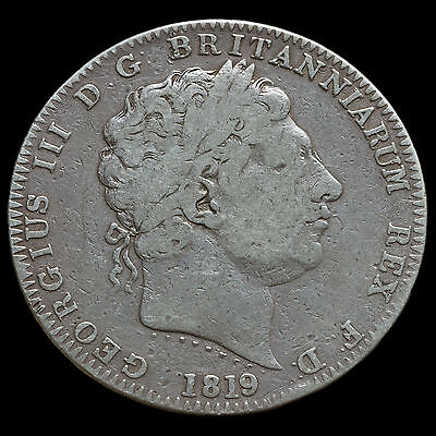 1819 George III Milled Silver LIX Crown – AF/ Fine