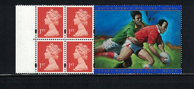 Great Britain 1999: #MH241b - Rugby World Cup/Wales Bklt Pane 4 NH-Lot#11/21