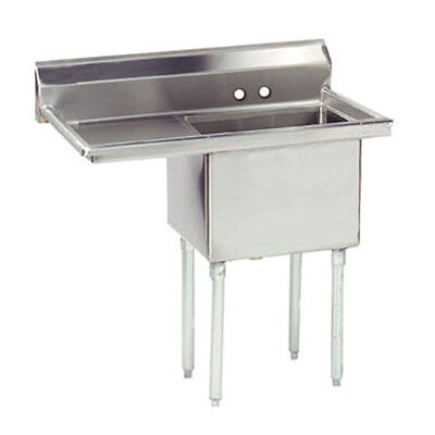 "1 COMPARTMENT SINK STAINLESS STEEL 18 x 24 + 1 24""LFT DRAINBOARD"