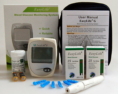 Home Blood Glucometer Diabetic Test Sugar Monitor System  + 50 Strips