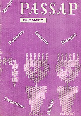 Passap Duomatic Patterns Booklet A5 Format