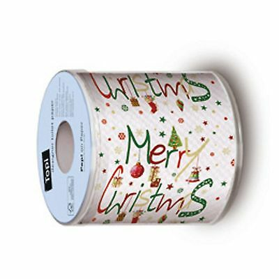 Merry Christmas Xmas Toilet Tissue Paper Reindeer 200 sheets 2ply x 4